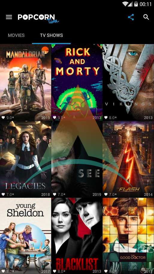 Popcorn time apk Latest v3.6.4 Free Download For Android 1