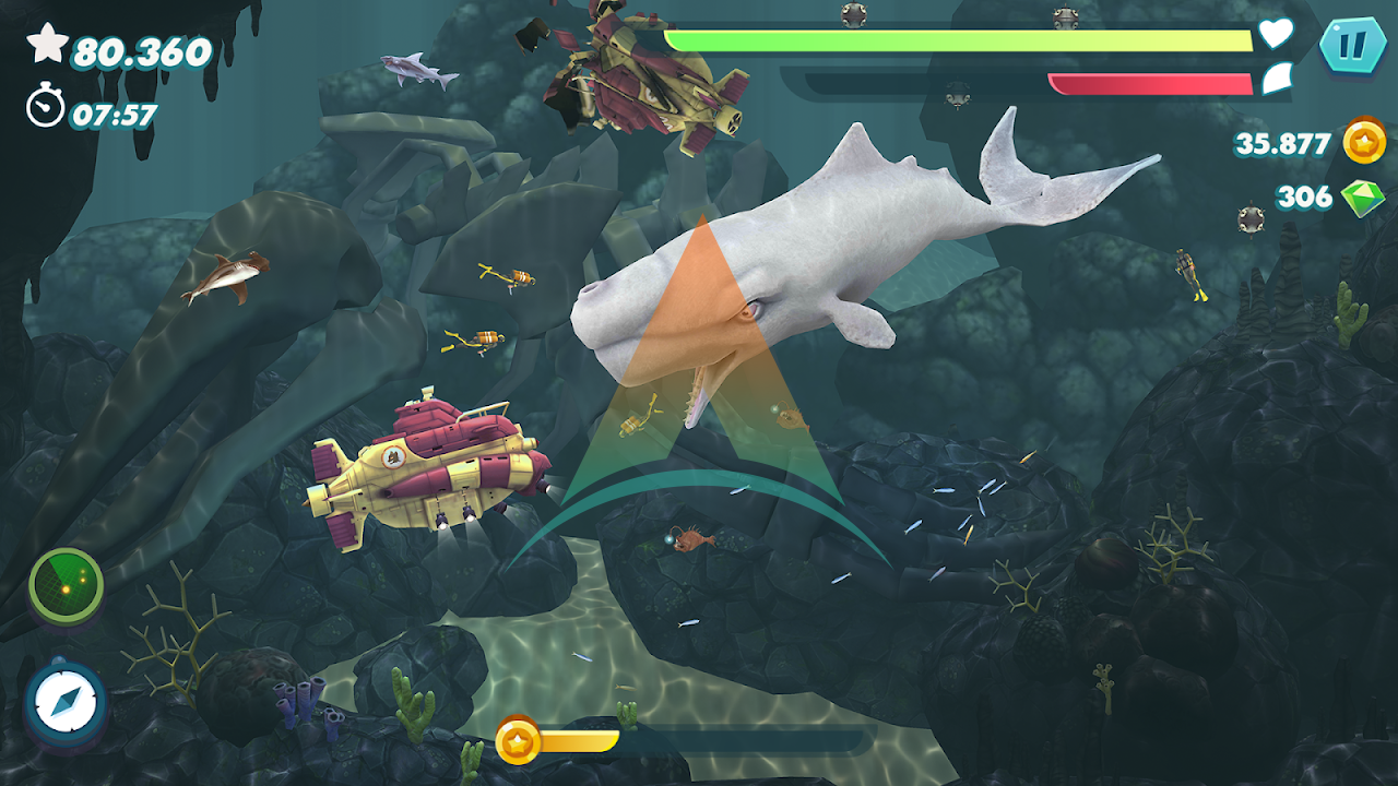 Hungry Shark Evolution Mod Apk Download v8.0.6 (Money/Gems/Coins) free on android 4