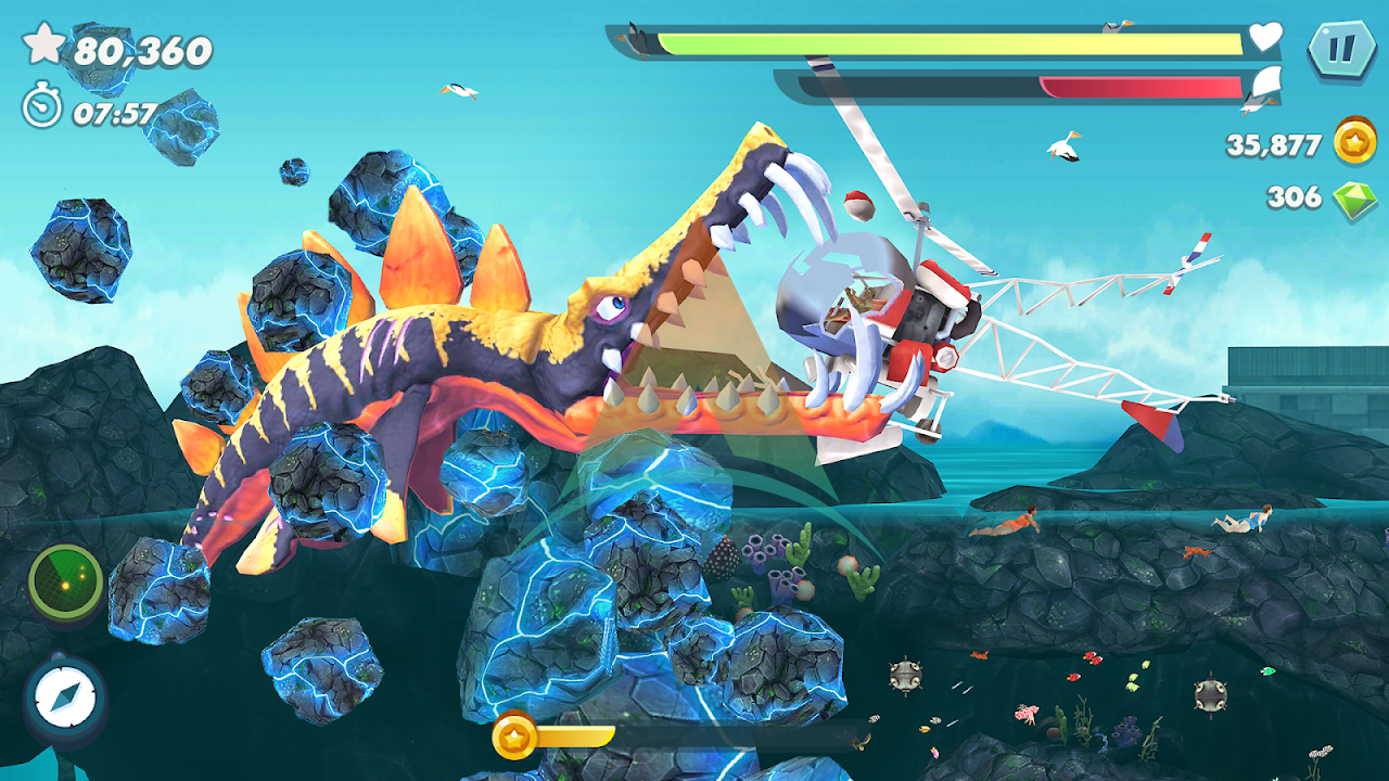 Hungry Shark Evolution Mod Apk Download v8.0.6 (Money/Gems/Coins) free on android 6