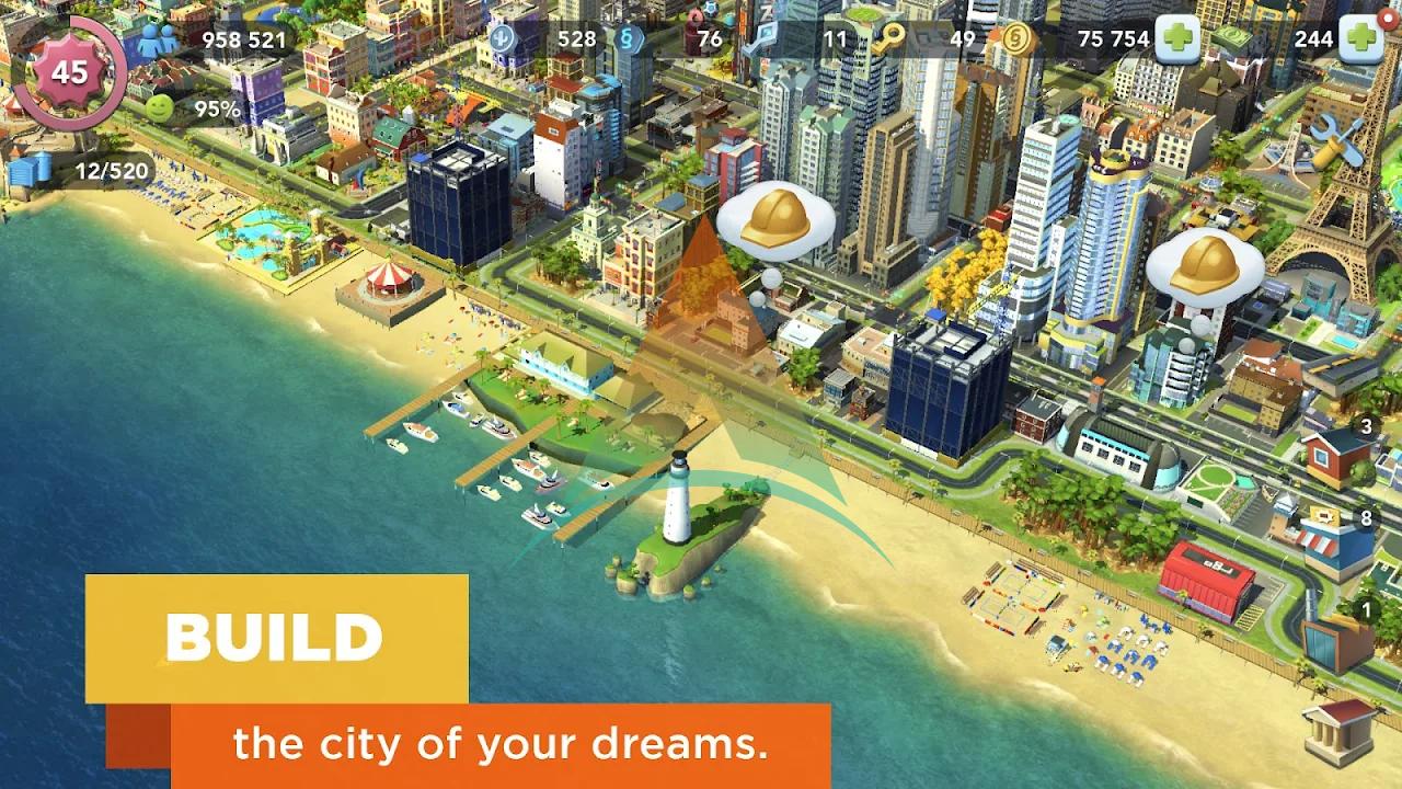 SimCity buildit mod apk v 1.35.1.97007(Money+Keys) Download on Android 3