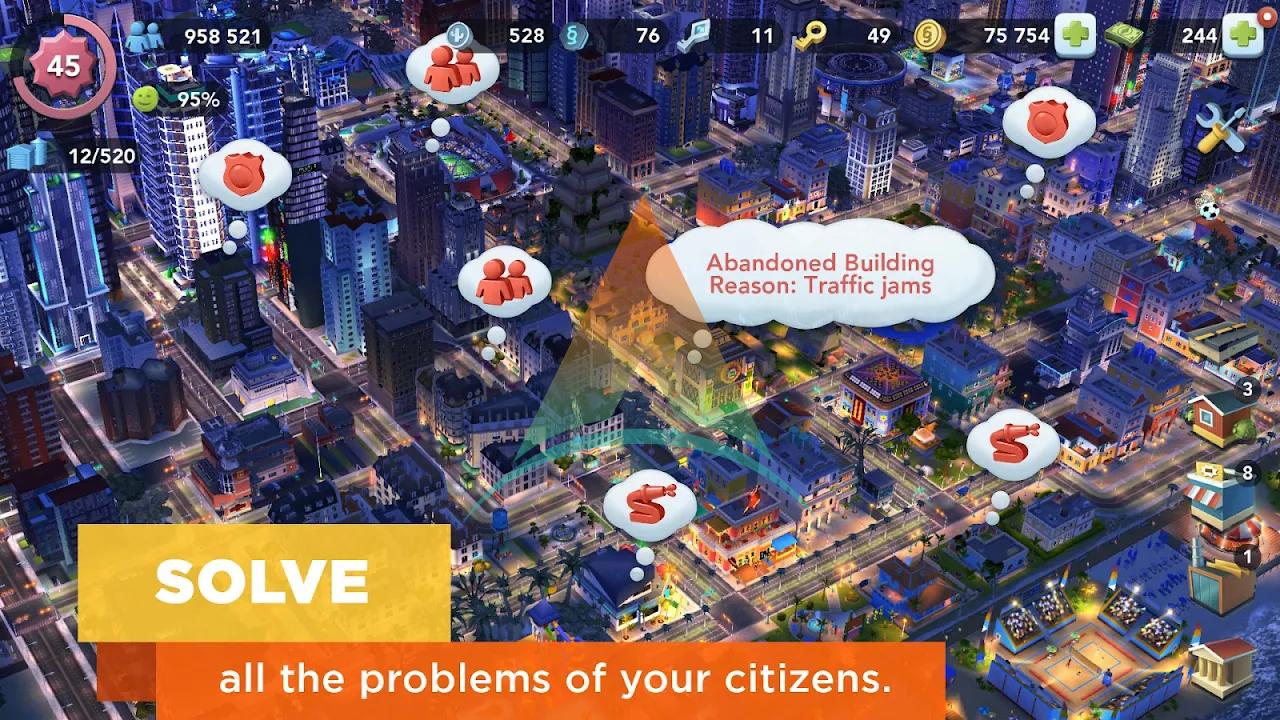 SimCity buildit mod apk v 1.35.1.97007(Money+Keys) Download on Android 4