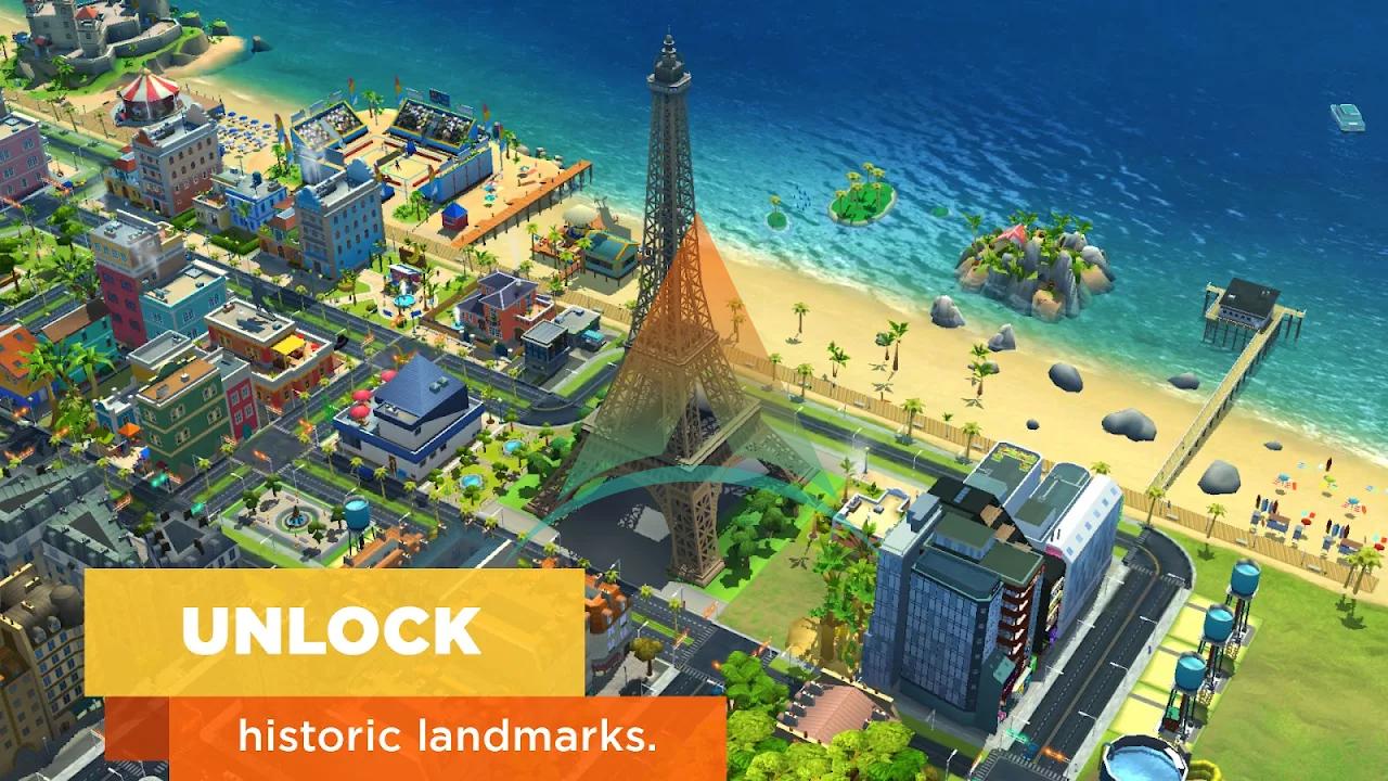 SimCity buildit mod apk v 1.35.1.97007(Money+Keys) Download on Android 2